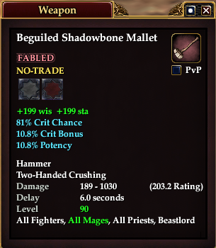 Beguiled Shadowbone Mallet