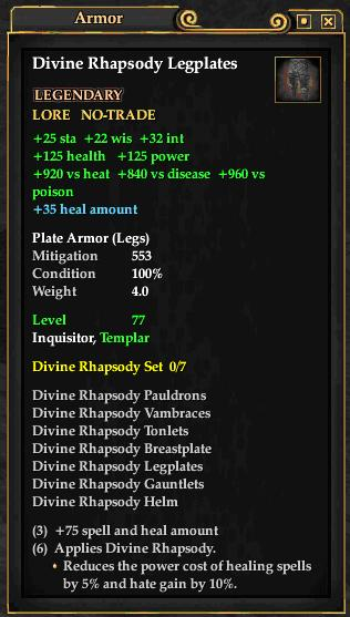 Divine Rhapsody Legplates (Level 77)