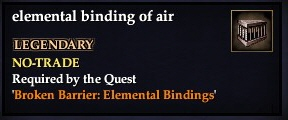 Elemental binding of air