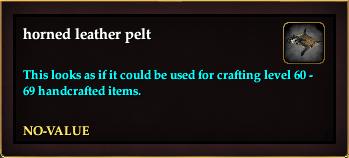 Horned leather pelt (Crate Reward)