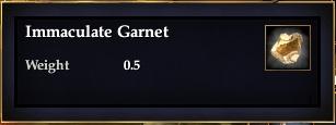 Immaculate Garnet