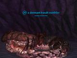 A dormant basalt rumbler