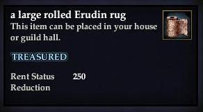 A large rolled Erudin rug