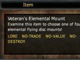 Veteran's Elemental Mount