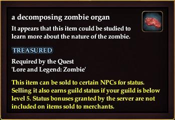 A decomposing zombie organ