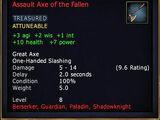 Assault Axe of the Fallen