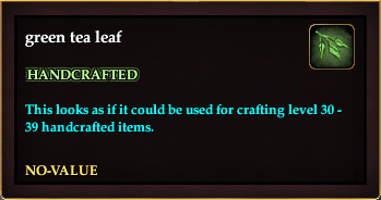 Green tea leaf (Crate Reward)