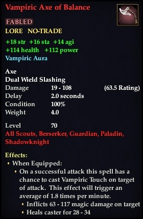 Vampiric Axe of Balance (Version 1)