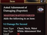 Astral Adornment of Damaging (Superior) (Crafted)