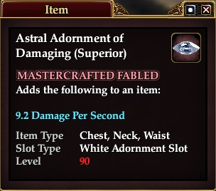 Astral Adornment of Damaging (Superior)