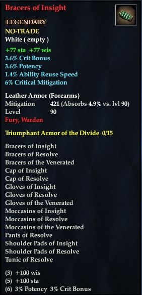 Bracers of Insight
