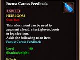 Focus: Caress Feedback (Item)