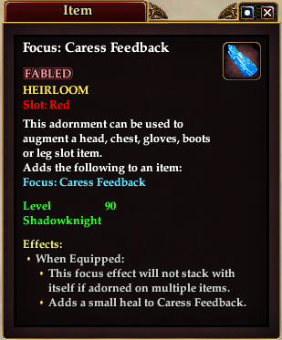 Focus: Caress Feedback (Item)