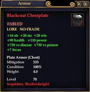 Blackcoat Chestplate