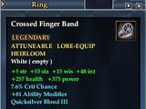 Crossed Finger Band