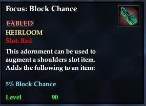 Focus: Block Chance (yellow)