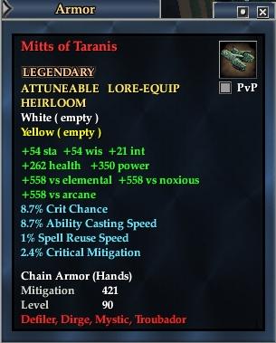 Mitts of Taranis