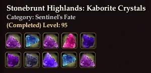 Stonebrunt Highlands: Kaborite Crystals
