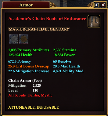 Academic's Chain Boots of Endurance