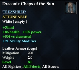Draconic Chaps of the Sun