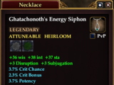 Ghatachonoth's Energy Siphon (Level 79)