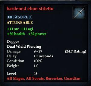 Hardened ebon stiletto