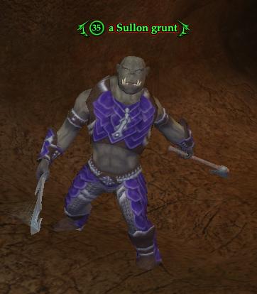 A Sullon grunt (The Sullon Mines)