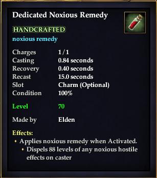 Dedicated Noxious Remedy