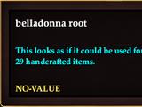 Belladonna root