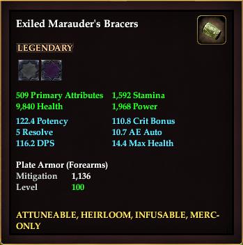 Exiled Marauder's Bracers