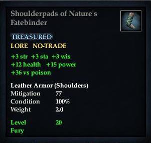 Shoulderpads of Nature's Fatebinder