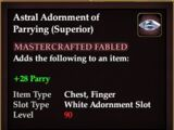 Astral Adornment of Parrying (Superior)