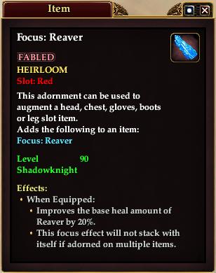 Focus: Reaver (Item)
