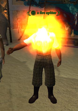 A fire spitter