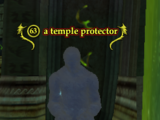 A temple protector