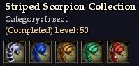 Striped Scorpion Collection