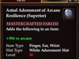 Astral Adornment of Arcane Resilience (Superior) (Crafted)