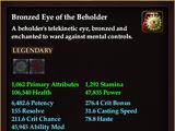 Bronzed Eye of the Beholder