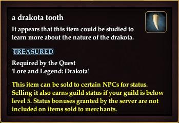 A drakota tooth