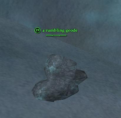 A rumbling geode