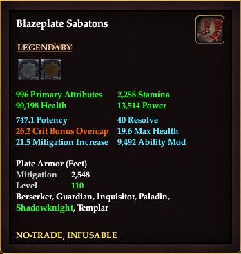 Blazeplate Sabatons
