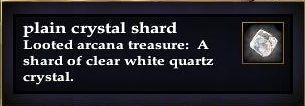 Plain crystal shard