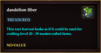 Dandelion fiber