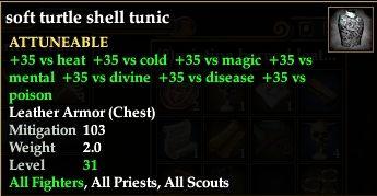 Soft turtle shell tunic