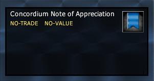 Concordium Note of Appreciation