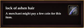 Lock of ashen hair