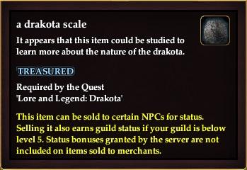 A drakota scale