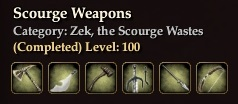 Scourge Weapons