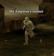 The Emperor's runner