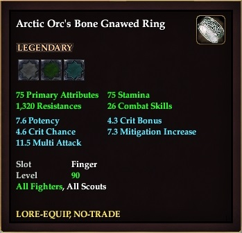 Arctic Orc's Bone Gnawed Ring